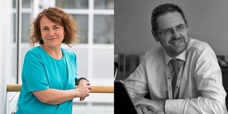 Dr Katherine Rake and Ian Holborn